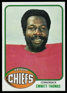 Emmitt Thomas 1976 Topps football card