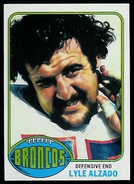 Lyle Alzado 1976 Topps football card