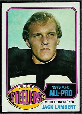 Jack Lambert 1976 Topps football card