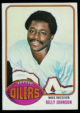 Billy Johnson 1976 Topps football card
