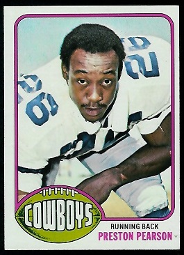 Preston Pearson 1976 Topps football card
