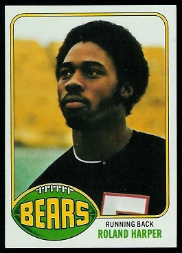 Roland Harper 1976 Topps football card