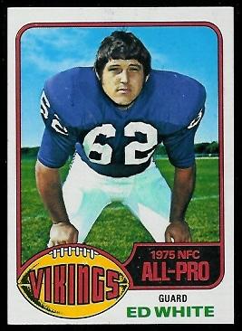 Ed White 1976 Topps football card