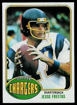 Jesse Freitas 1976 Topps football card