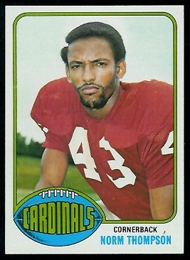 Norm Thompson 1976 Topps football card