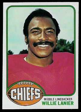 Willie Lanier 1976 Topps football card