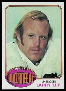 Larry Ely 1976 Topps football card