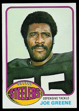 Joe Greene 1976 Topps football card