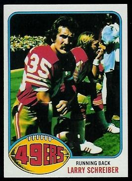 Larry Schreiber 1976 Topps football card