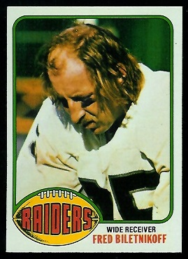 Fred Biletnikoff 1976 Topps football card