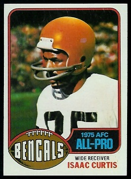 Isaac Curtis 1976 Topps football card