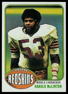 Harold McLinton 1976 Topps football card