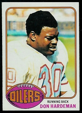 Don Hardeman 1976 Topps football card