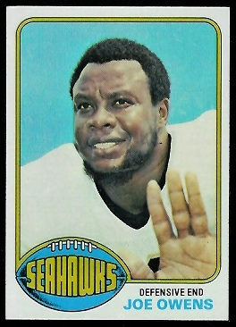 Joe Owens 1976 Topps football card