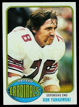 Ron Yankowski 1976 Topps football card