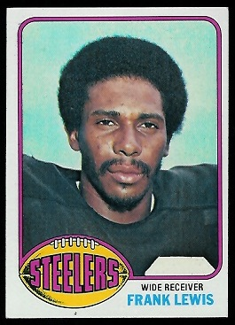 Frank Lewis 1976 Topps football card