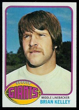 Brian Kelley 1976 Topps football card