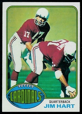 Jim Hart 1976 Topps football card