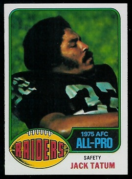 Jack Tatum 1976 Topps football card
