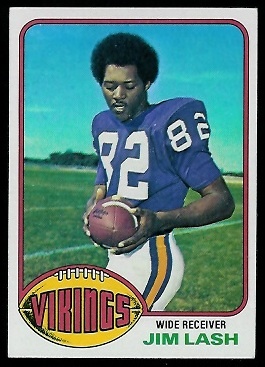 Jim Lash 1976 Topps football card