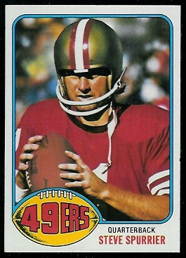Steve Spurrier 1976 Topps football card