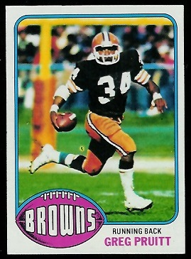Greg Pruitt 1976 Topps football card