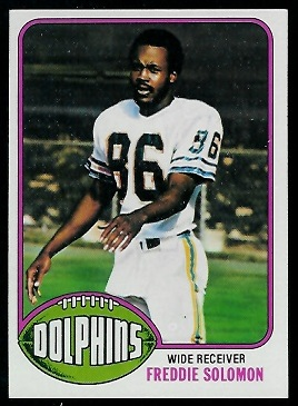 Freddie Solomon 1976 Topps football card