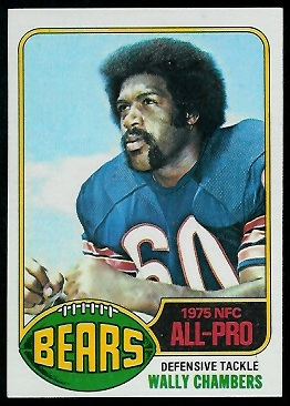 Wally Chambers 1976 Topps football card