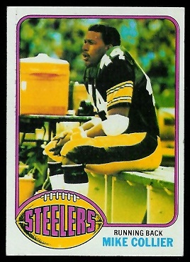Mike Collier 1976 Topps football card