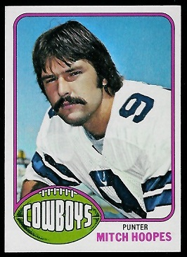 Mitch Hoopes 1976 Topps football card