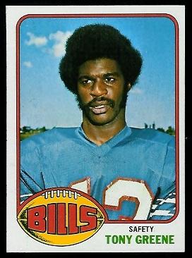 Tony Greene 1976 Topps football card