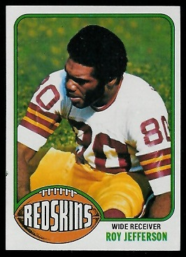Roy Jefferson 1976 Topps football card