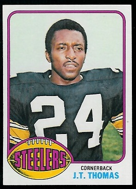 J.T. Thomas 1976 Topps football card