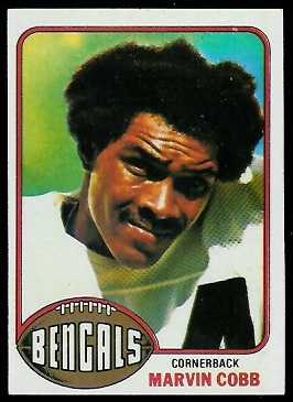 Marvin Cobb 1976 Topps football card