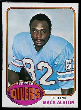 Mack Alston 1976 Topps football card