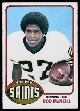 Rod McNeill 1976 Topps football card