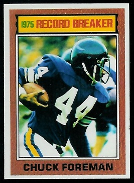 Chuck Foreman: Record Breaker 1976 Topps football card