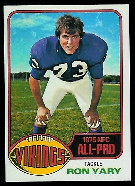 Ron Yary 1976 Topps football card