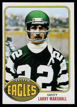 Larry Marshall 1976 Topps football card