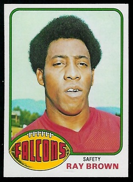 Ray Brown 1976 Topps football card
