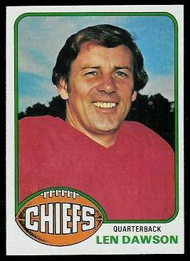 Len Dawson 1976 Topps football card