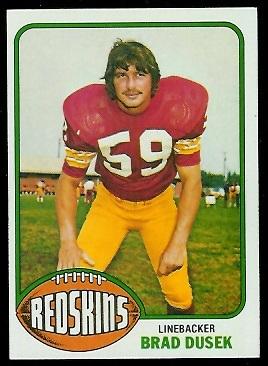 Brad Dusek 1976 Topps football card