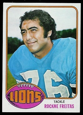 Rockne Freitas 1976 Topps football card