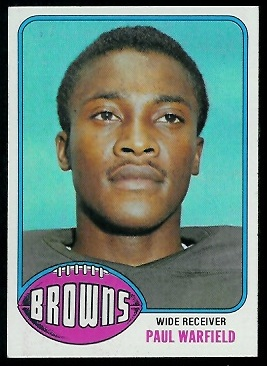 Paul Warfield 1976 Topps football card
