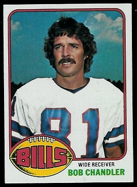 Bob Chandler 1976 Topps football card