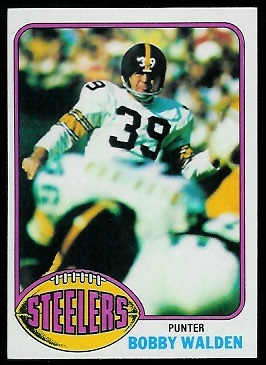 Bobby Walden 1976 Topps football card