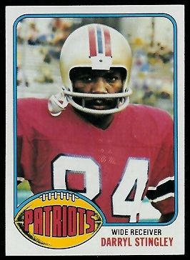 Darryl Stingley 1976 Topps football card