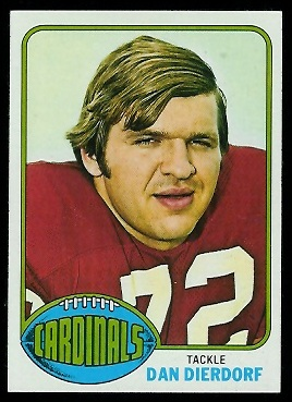 Dan Dierdorf 1976 Topps football card