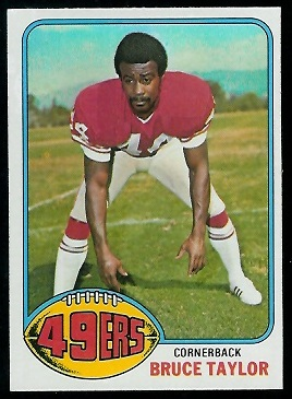 Bruce Taylor 1976 Topps football card