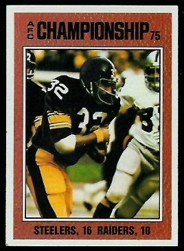 AFC Championship 1976 Topps football card